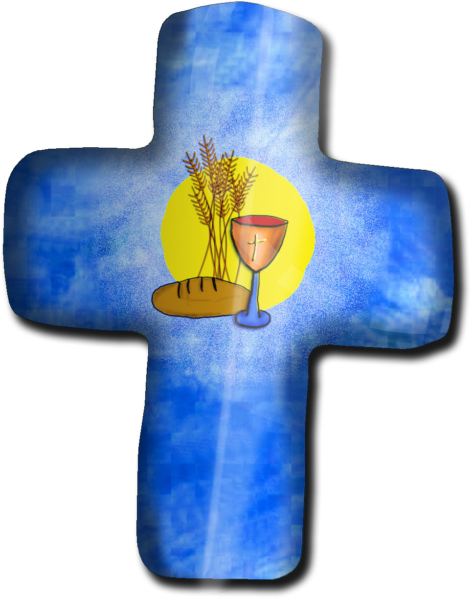 "Magnet in Kreuz - Form ""Christlich"""