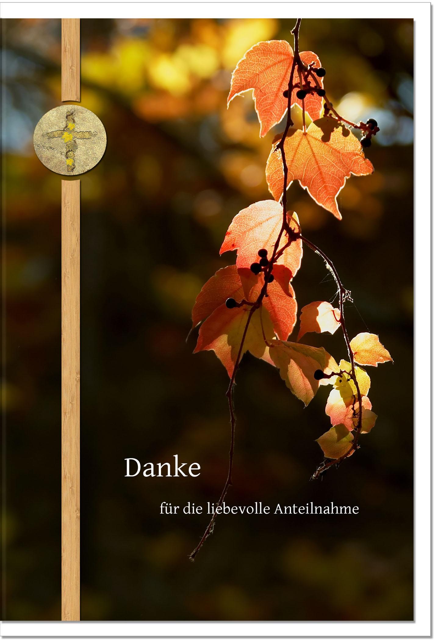 Danksagung Danksagungskarten / Herbstlaub