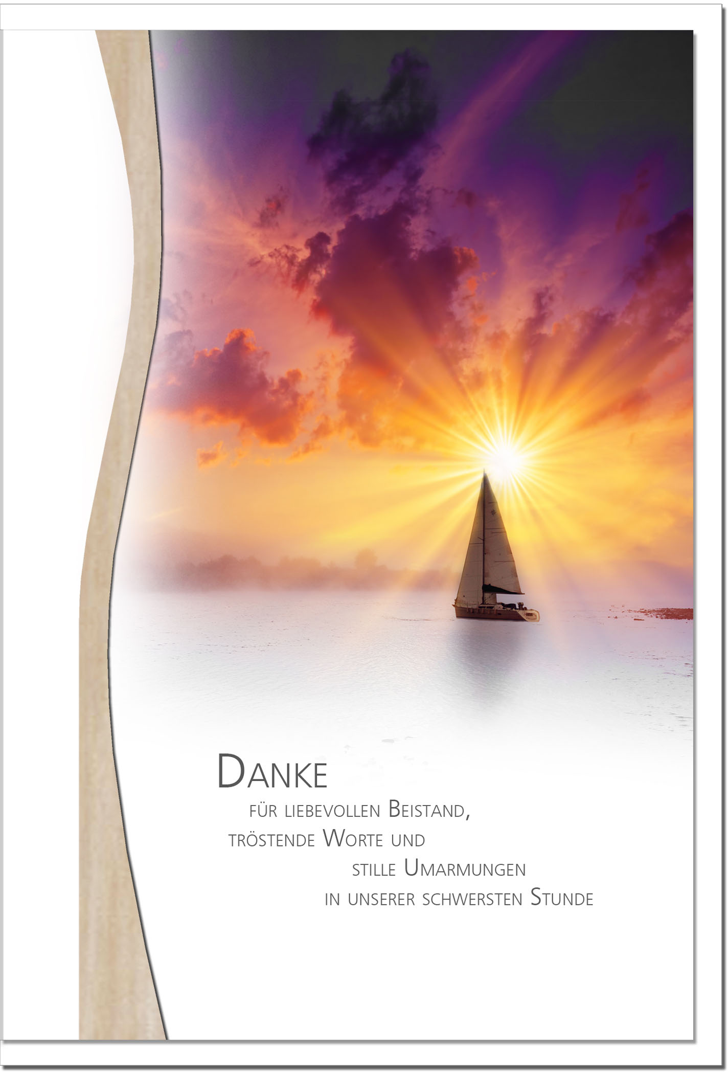 "metALUm Stilvolle Danksagungskarten  ""Segelboot"""