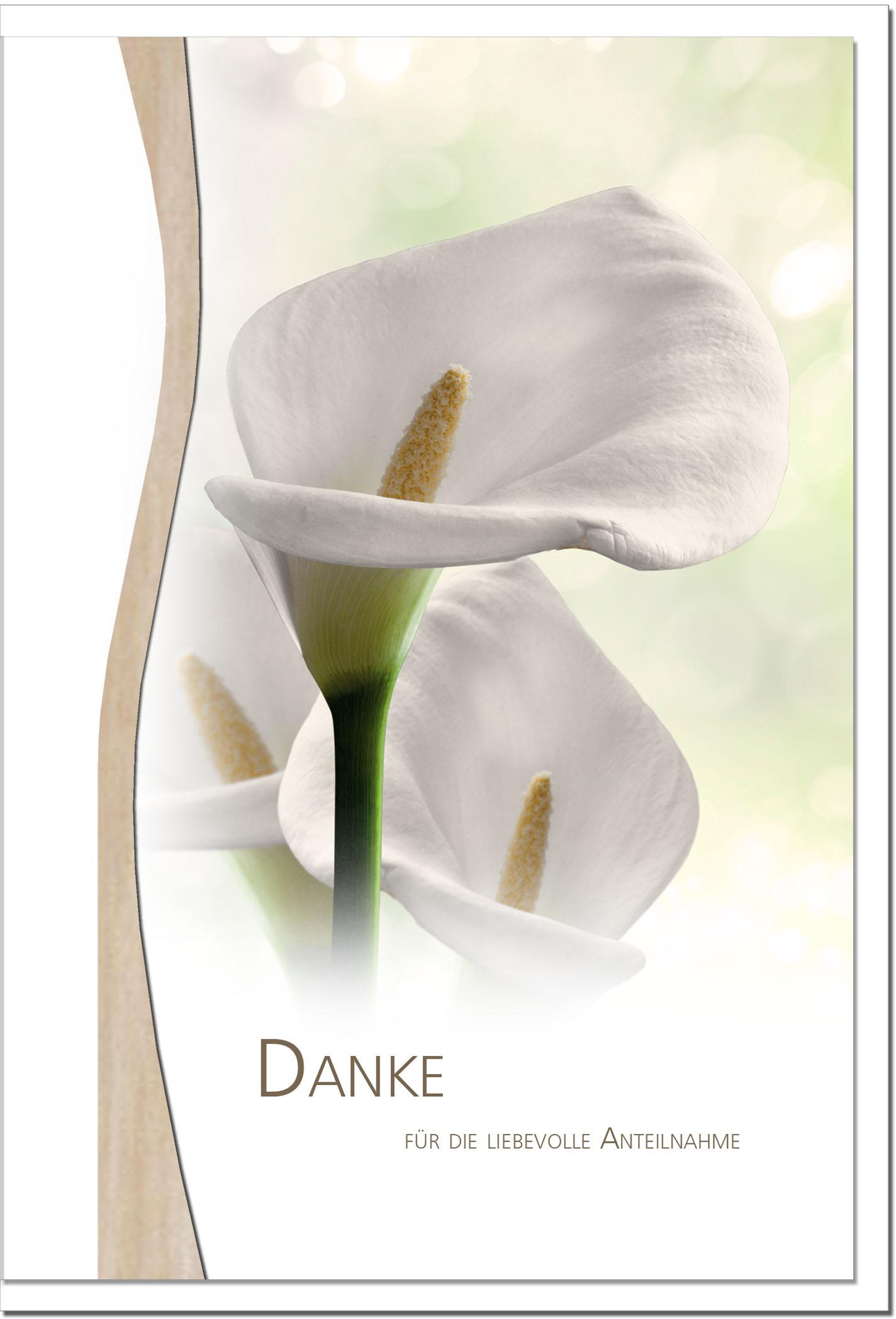 """metALUm Stilvolle Danksagungskarten  """"Lilie"""""""