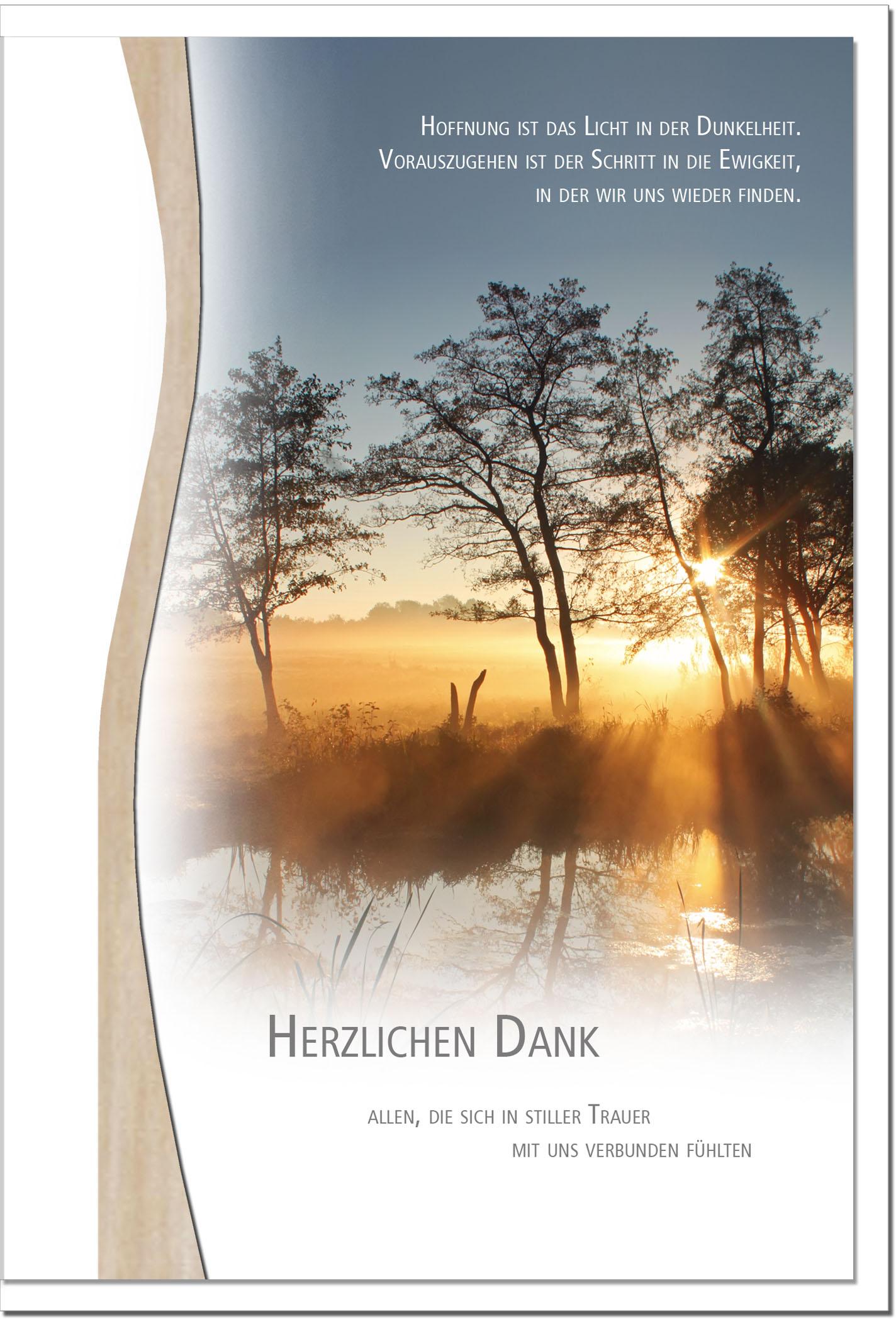 """metALUm Stilvolle Danksagungskarten  """"Abendstimmung"""""""