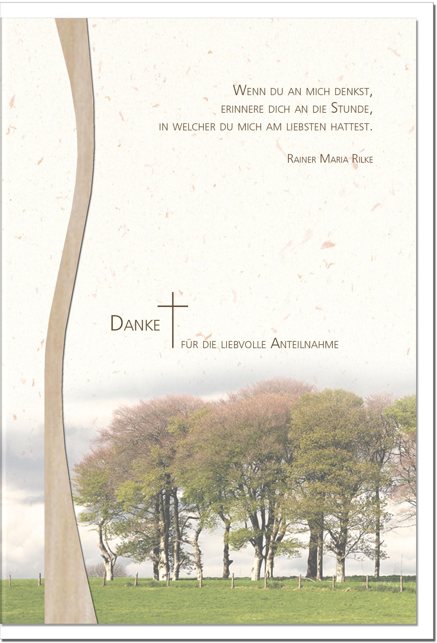 """metALUm Stilvolle Danksagungskarten  """"Bäume"""""""