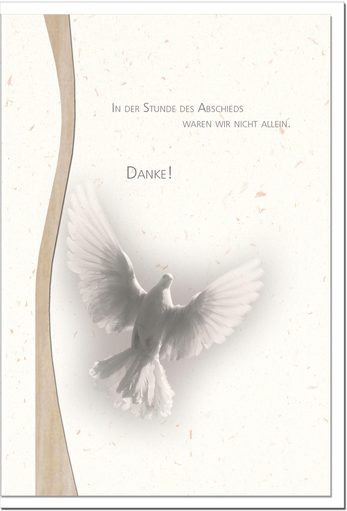 "metALUm Stilvolle Danksagungskarten  ""Möwe"""