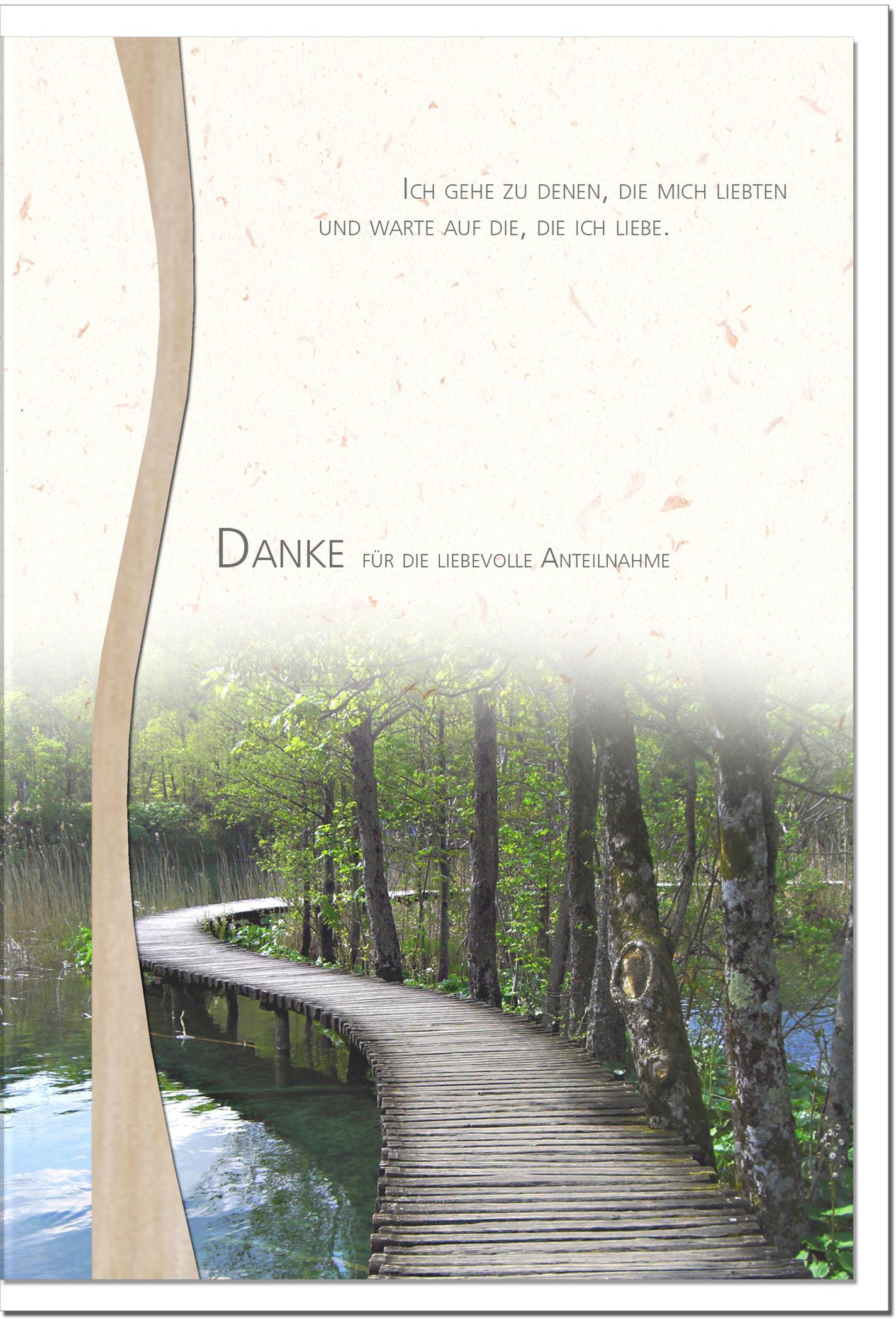 "metALUm Stilvolle Danksagungskarten  ""Brücke"""