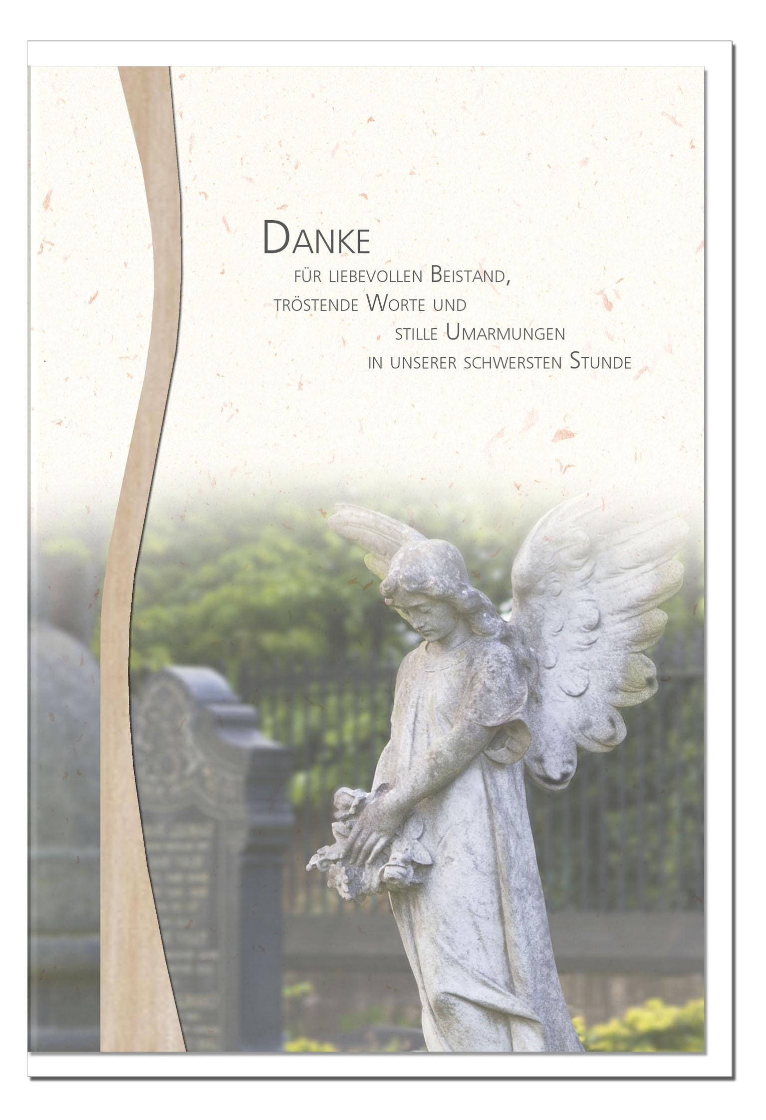 """metALUm Stilvolle Danksagungskarten  """"Engel"""""""