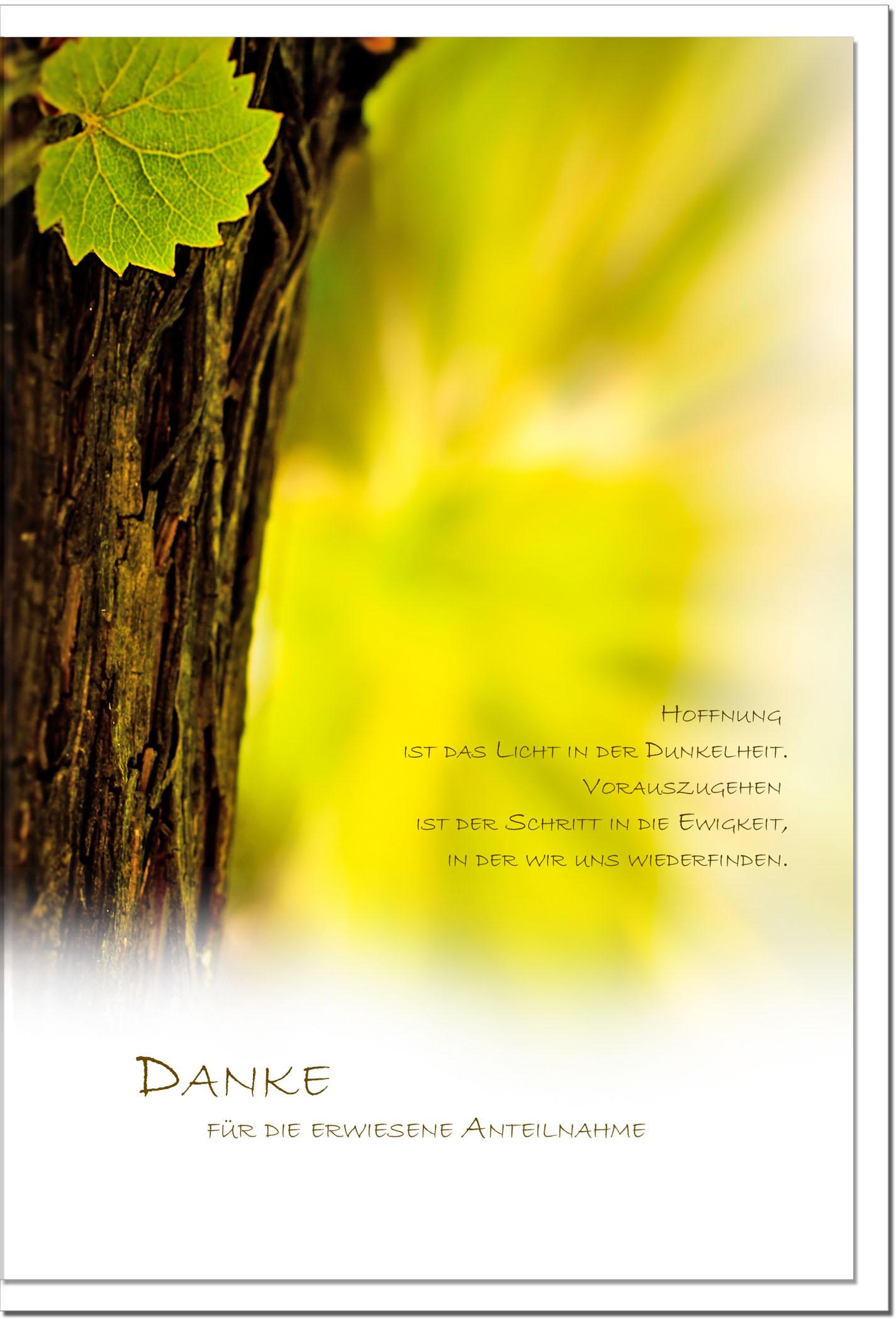 """metALUm Stilvolle Danksagungskarten  """"Baum"""""""