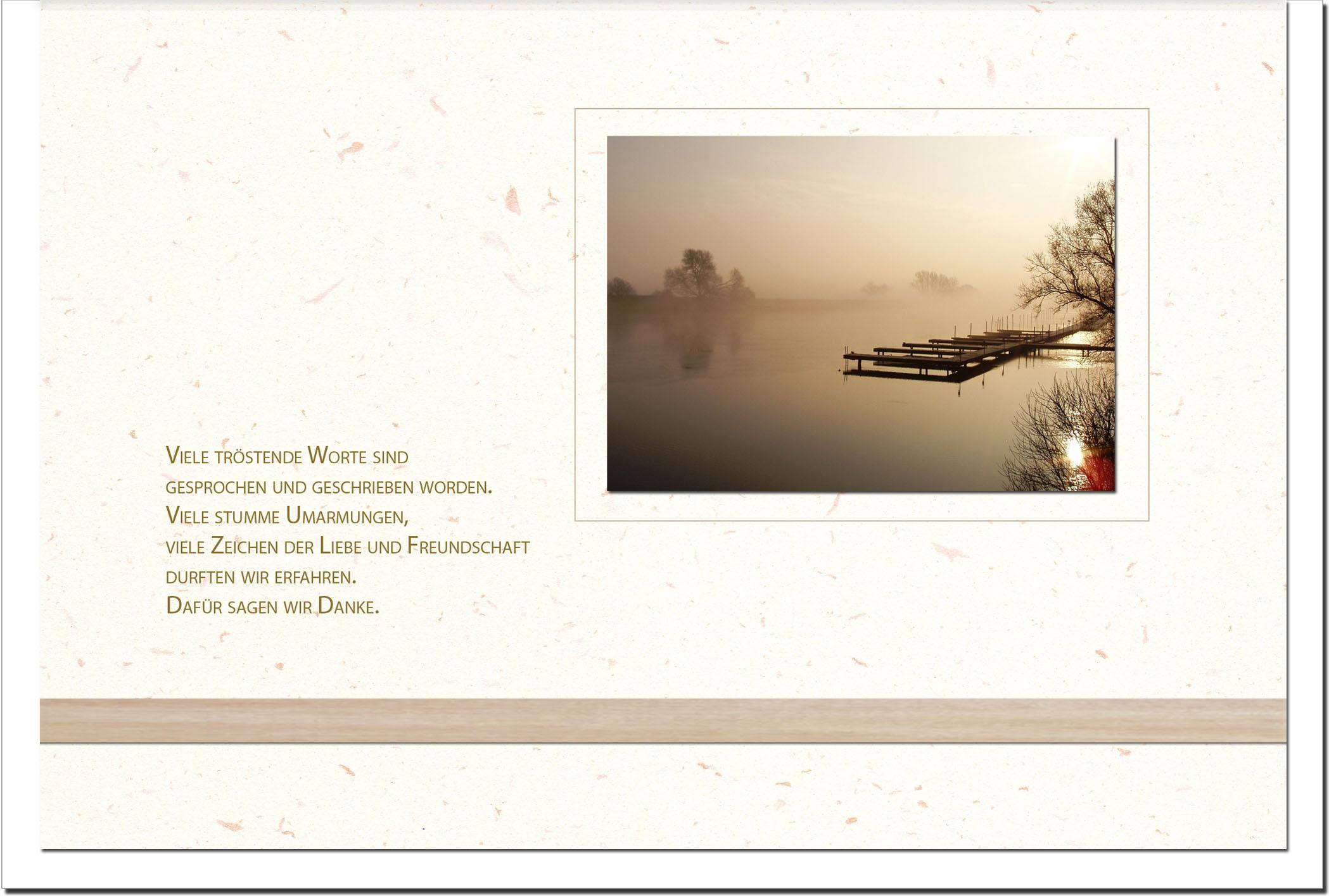 """metALUm Stilvolle Danksagungskarten  """"Steg"""""""