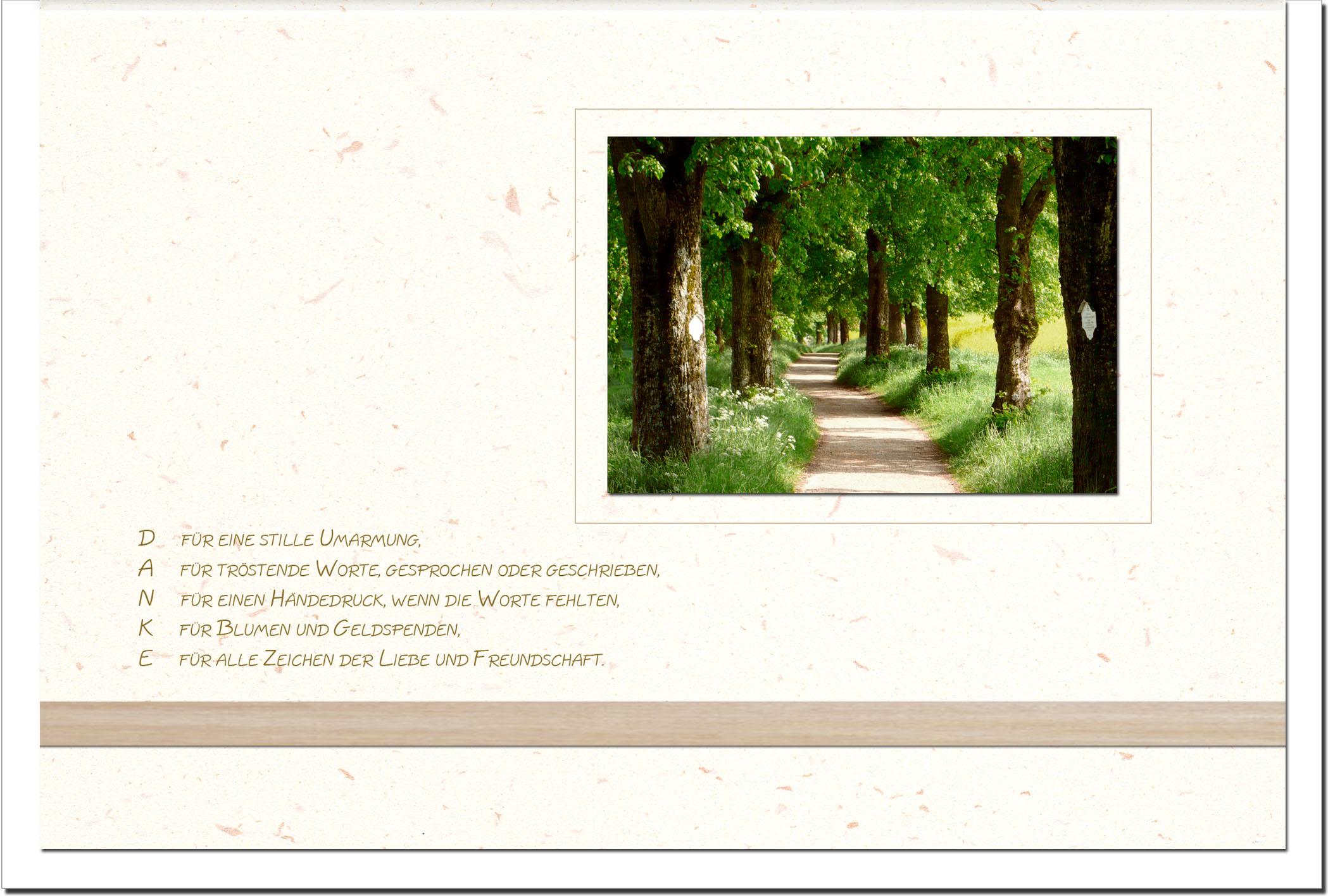 """metALUm Stilvolle Danksagungskarten  """"Weg"""""""