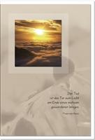 Trauerkarte ERLÖSUNG | Sonnenuntergang | metALUm #00020