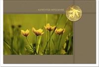 Trauerkarte ABENDSTIMMUNG | Blumen im Abendlicht | metALUm #00049