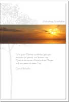 Trauerkarte GEBORGEN   Sonnenuntergang   metALUm #00073