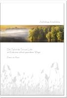 Kondolenzkarte STILLE | See im Nebel | metALUm #00079