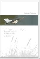 Beileidskarte HEIMKEHR | Reiher | metALUm #00087