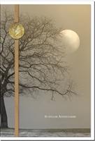 Kondolenzkarte ABSCHIED | Baum im Vollmond | metALUm #00119