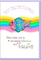 Taufkarten / Grußkarten /Taufe Regenbogen