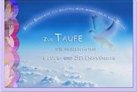 Taufkarten / Grußkarten /Taufe Himmel