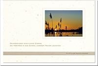 Trauerkarte ERINNERUNG | Schilf im Sonnenuntergang | metALUm #00555