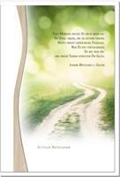 Kondolenzkarte ABSCHIED   Weg im Gegenlicht   metALUm #01337