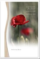 Trauerkarte ERINNERUNG   Mohn   metALUm #01340