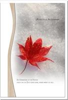 Trauerkarte ERINNERUNG | Herbst | metALUm #01346