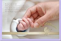 Geburtskarten / Grußkarten /Geburt Hände