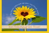 Geburtstagskarten / Grußkarten /Geburtstag Sonnenblume