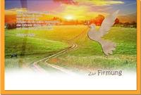 Firmungskarten / Grußkarten / Glückwunschkarten /Firmung Weg