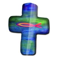 """Magnet in Kreuz - Form """"Christlich"""""""