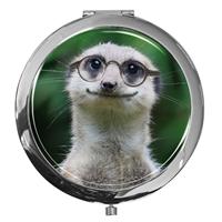 Taschenspiegel / Spiegel / Erdmännchen / 2 fache Vergrößerung