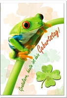 Geburtstagskarten / Grußkarten /Geburtstag Frosch