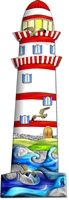 "Metall - Lesezeichen  ""Leuchtturm"""