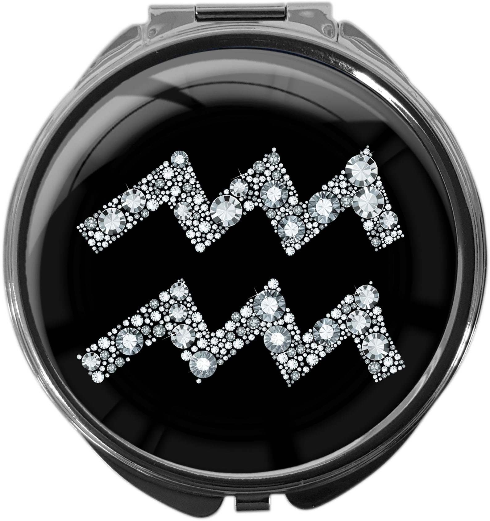 Tablettenbox aus Metall | STERNZEICHEN WASSERMANN | metALUm #00065