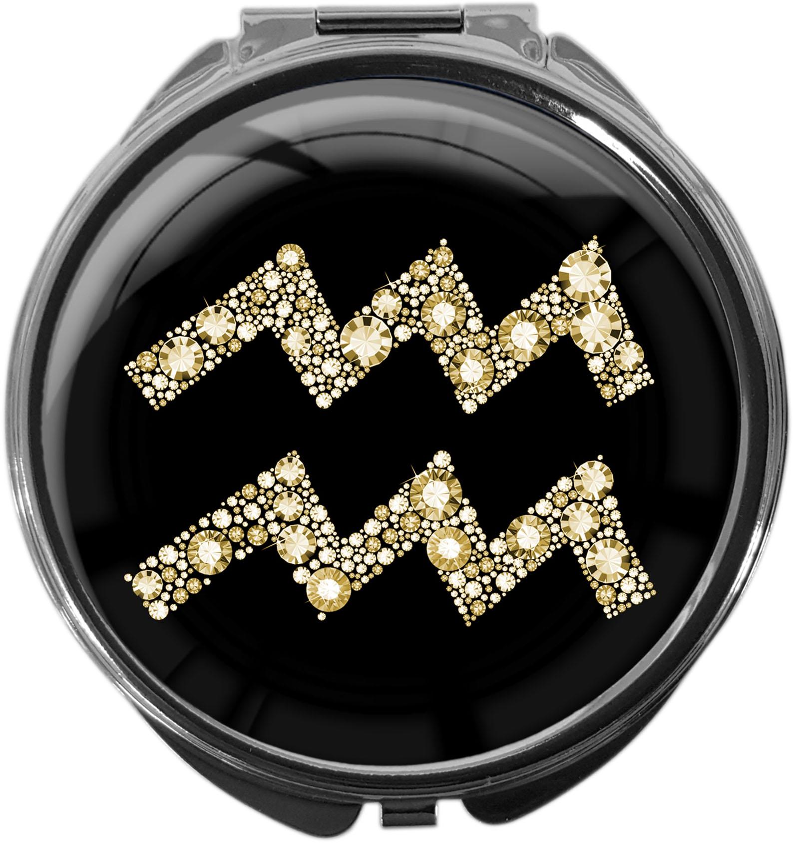 Tablettenbox aus Metall | STERNZEICHEN WASSERMANN | metALUm #00077