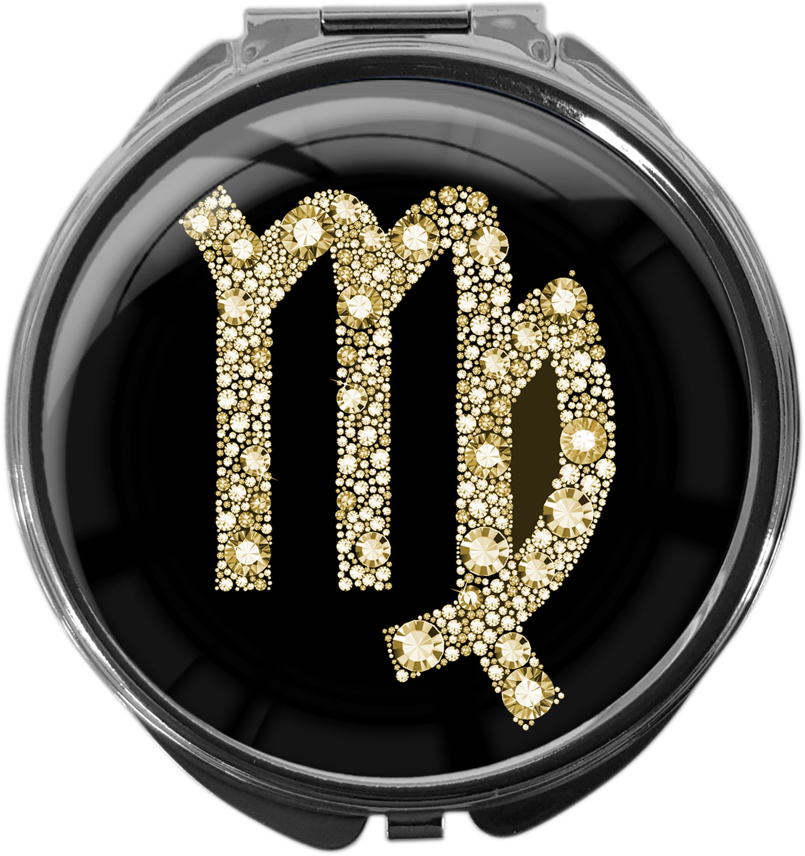 Tablettendose aus Metall | STERNZEICHEN JUNGFRAU | metALUm #00081