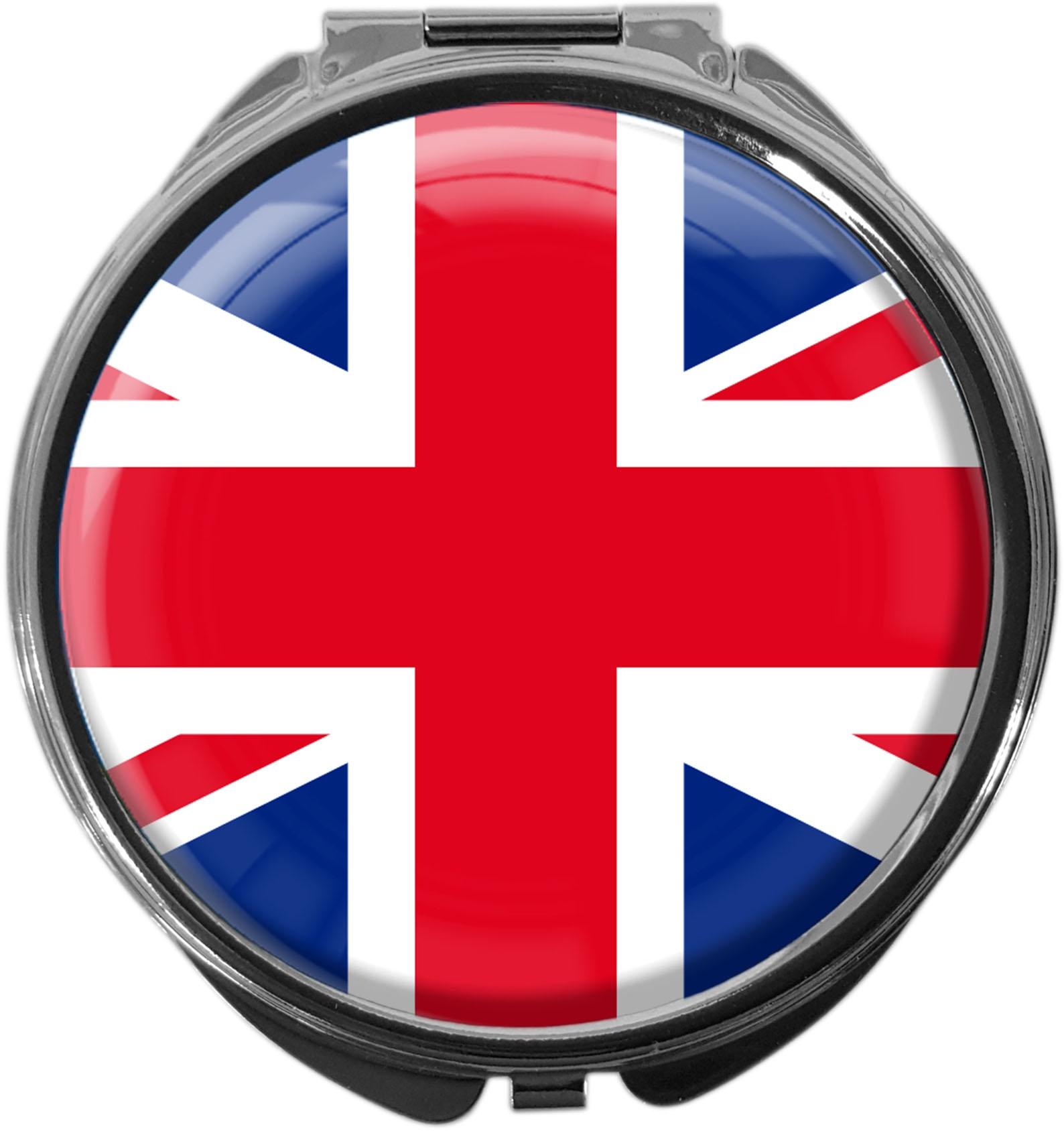 "metALUm Premium Pillendose in runder Form ""Flagge Großbritannien"""