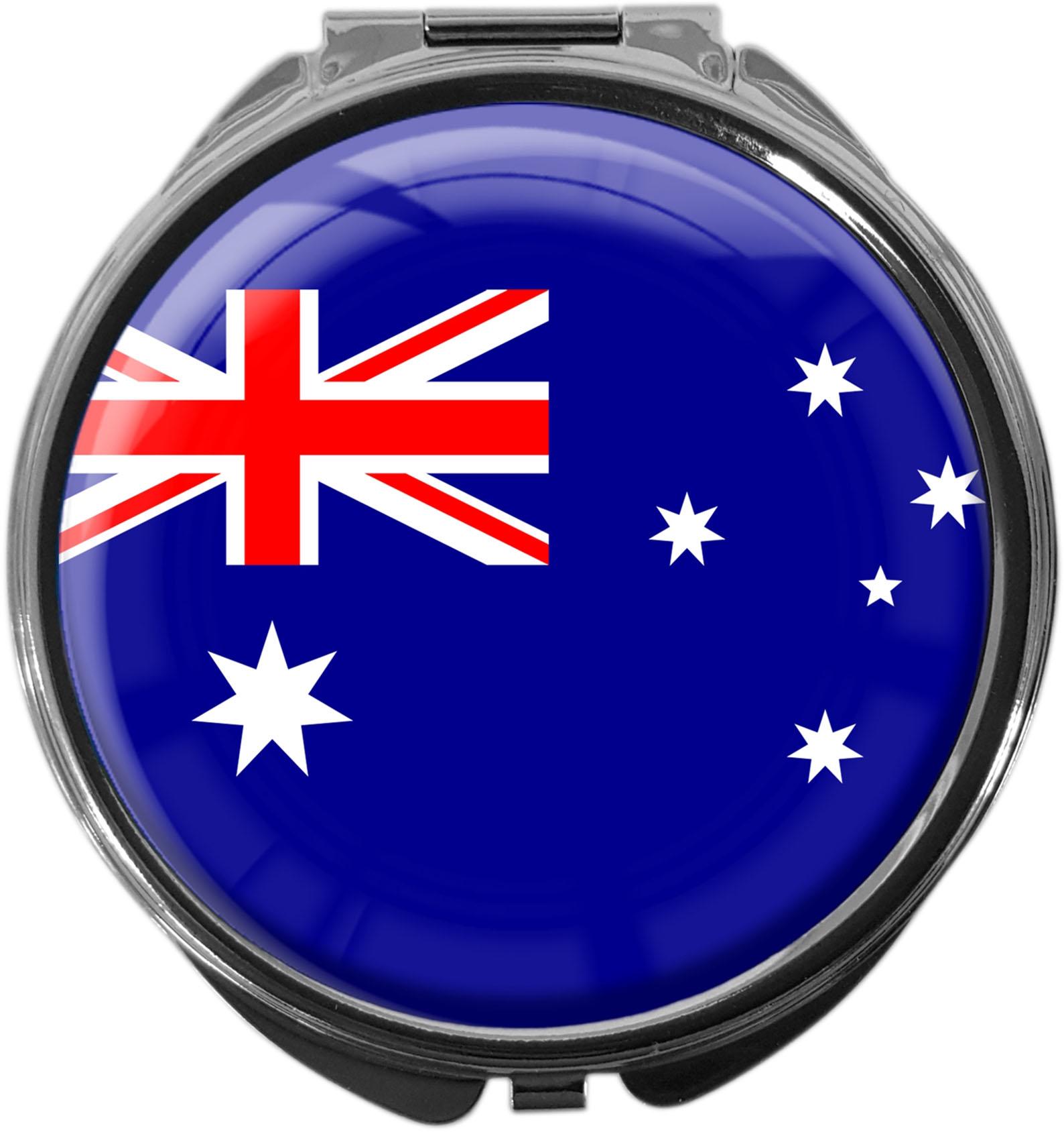 """metALUm Premium Pillendose in runder Form """"Flagge Australien"""""""