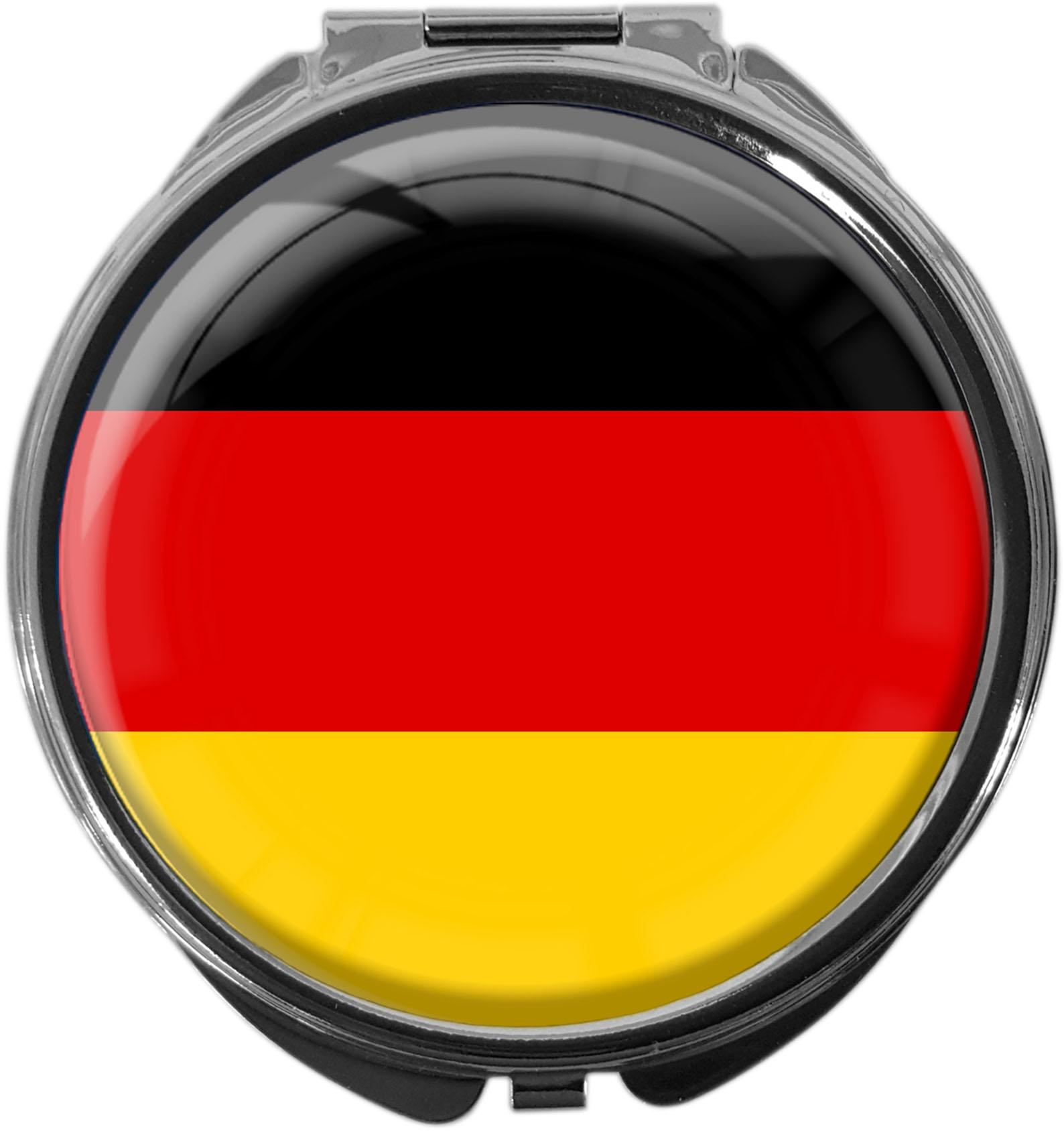 "metALUm Premium Pillendose in runder Form ""Flagge Deutschland"""