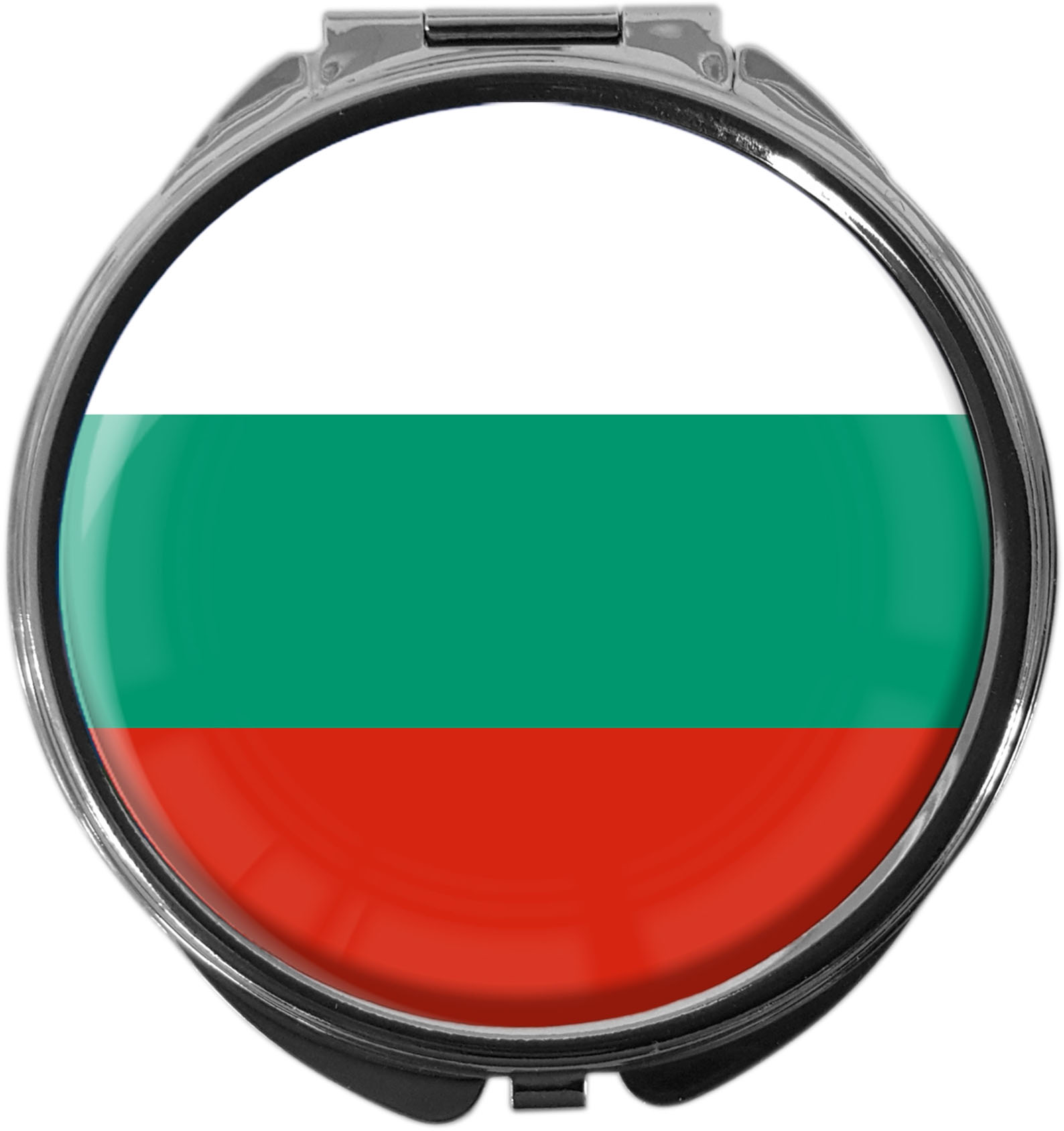 "metALUm Premium Pillendose in runder Form ""Flagge Bulgarien"""