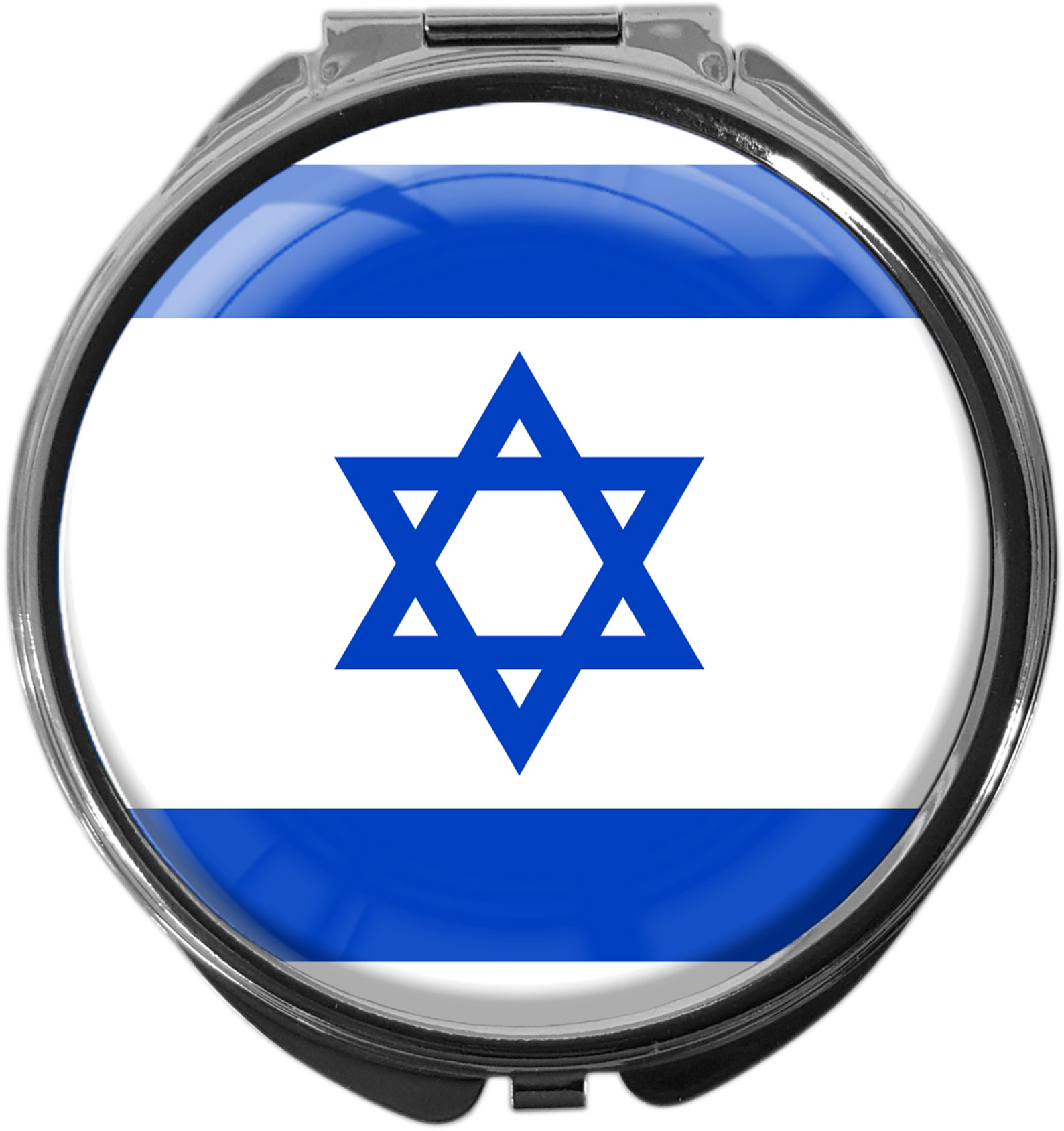 "metALUm Premium Pillendose in runder Form ""Flagge Israel"""