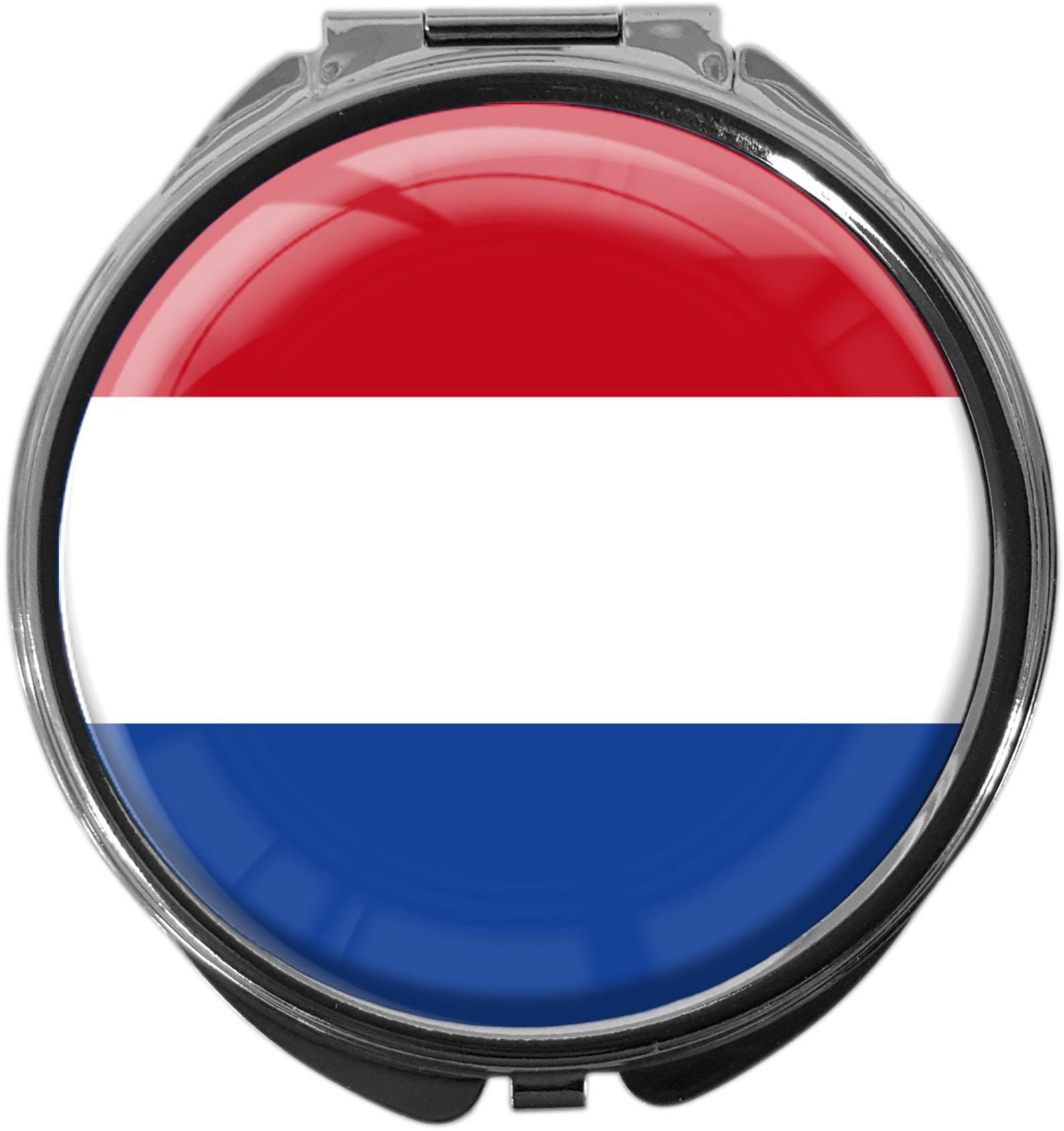 """metALUm Premium Pillendose in runder Form """"Flagge Niederlande"""""""
