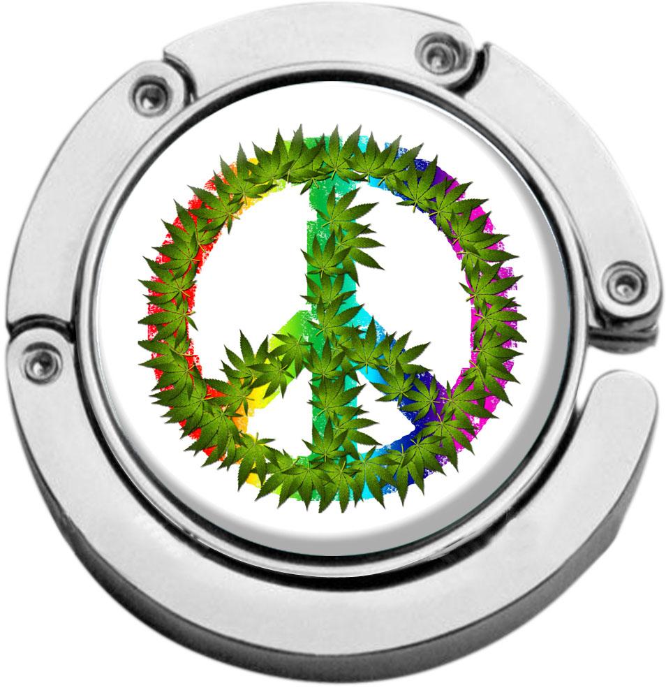 """metALUm Taschenaufhänger in runder Form """"Peace"""""""