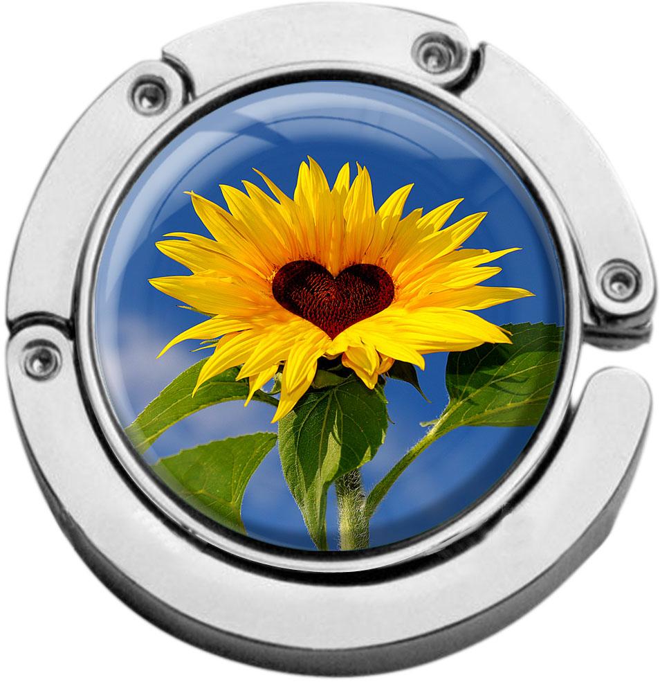 """metALUm Taschenaufhänger in runder Form """"Sonnenblume"""""""