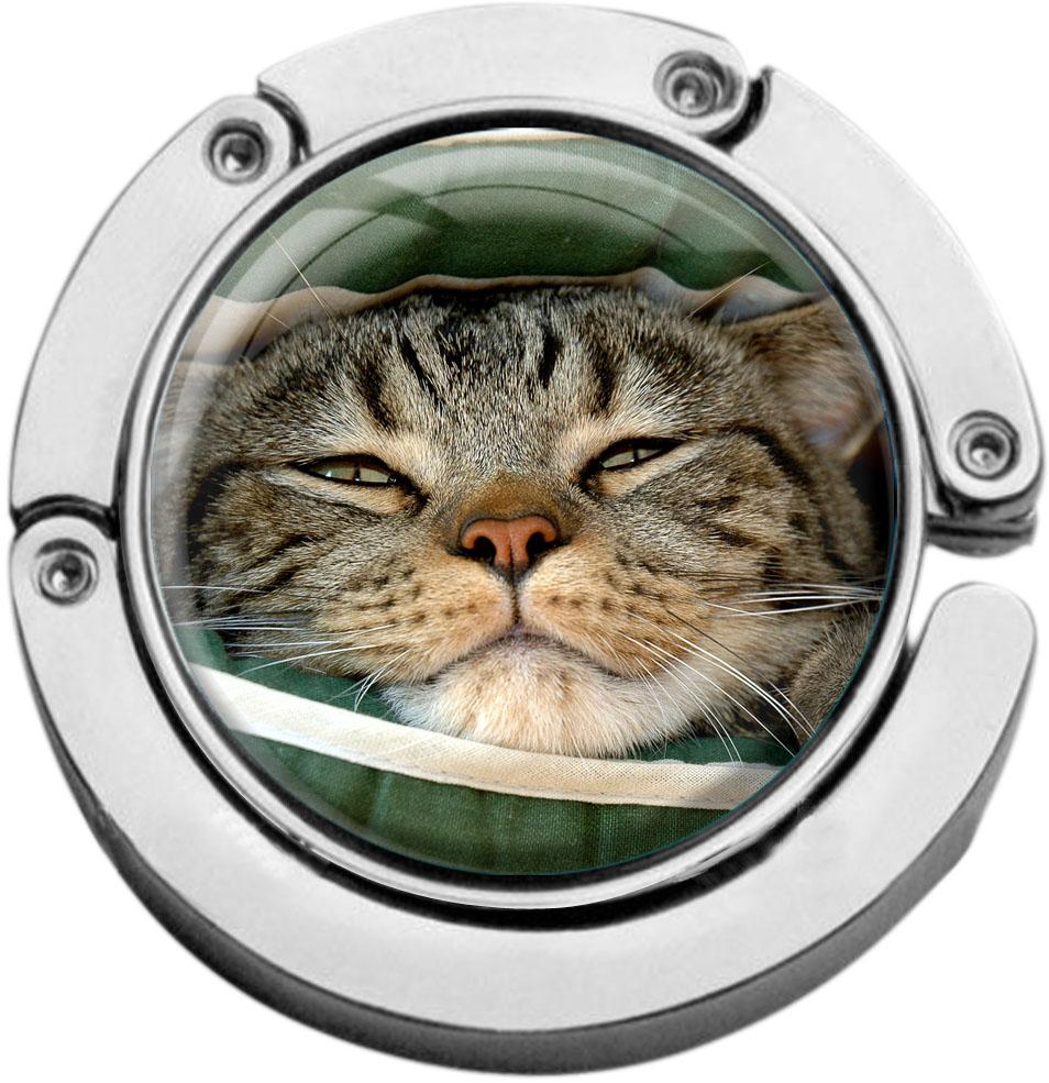 """metALUm Taschenaufhänger in runder Form """"Katze"""""""