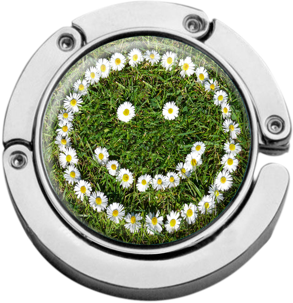 """metALUm Taschenaufhänger in runder Form """"Smiley"""""""