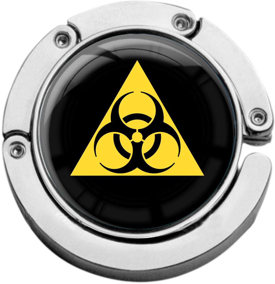 """metALUm Taschenaufhänger in runder Form """"Biohazard"""""""
