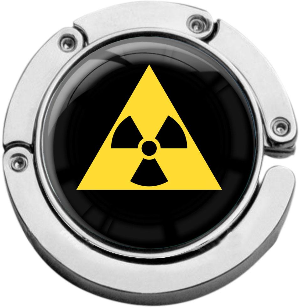 "metALUm Taschenaufhänger in runder Form ""Radioaktiv"""
