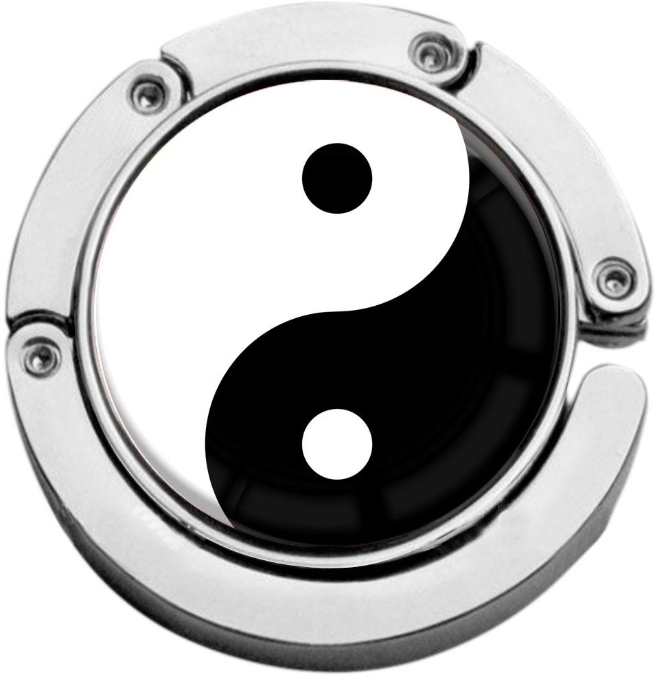 "metALUm Taschenaufhänger in runder Form ""Ying Yang"""