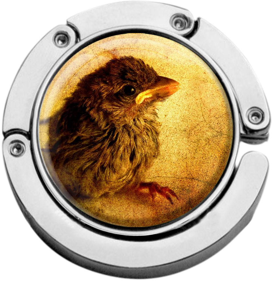 """metALUm Taschenaufhänger in runder Form """"Vogel"""""""