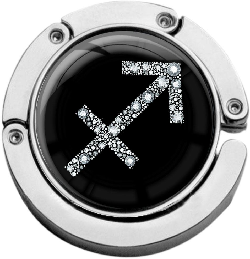 """metALUm Taschenaufhänger in runder Form """"Sternzeichen Schütze in Silber"""""""