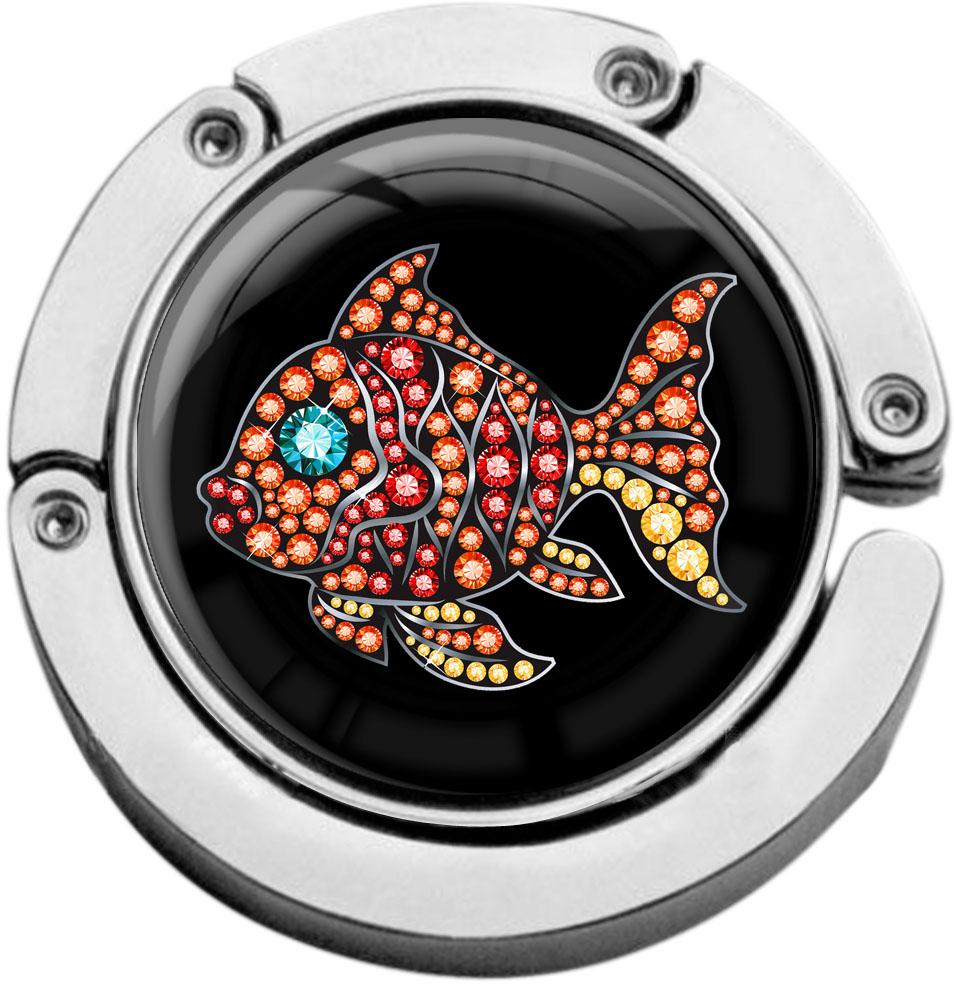 """metALUm Taschenaufhänger in runder Form """"Fisch"""""""
